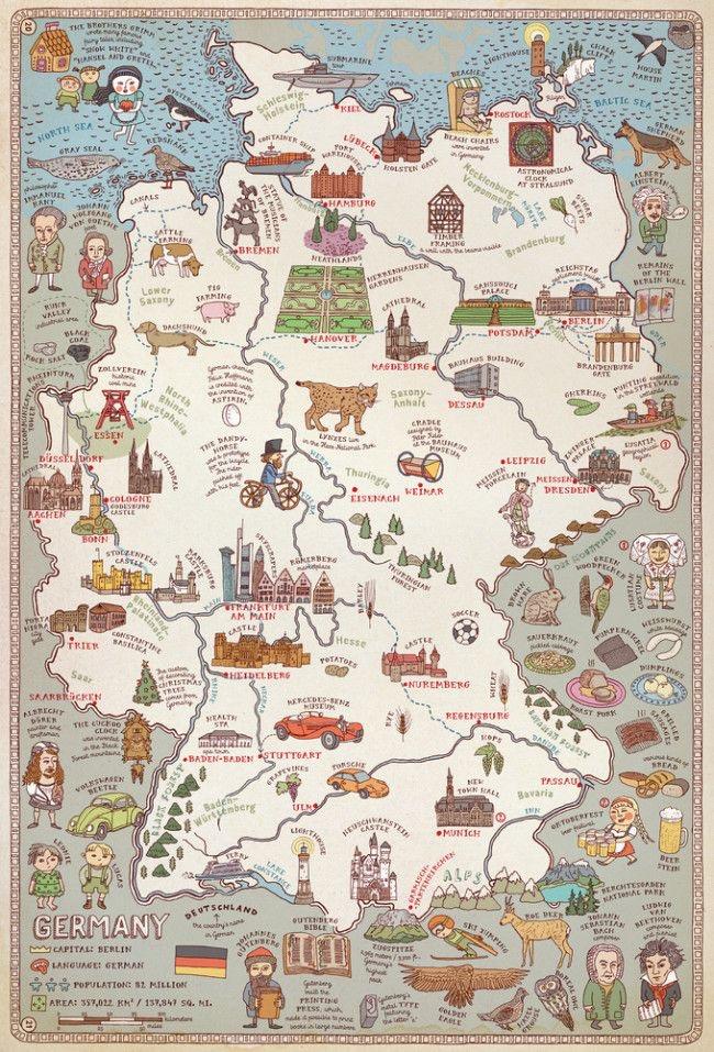 Mapa Turístico da Alemanha