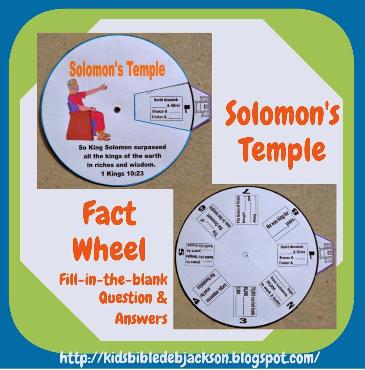 Bible Fun For Kids Solomon Rebuilds The Temple