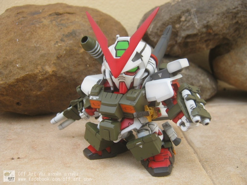 SD Gundam Astray Red Frame Full Armor Jacket เรดเฟรมน้อยศิษย์ฟลูอาเมอร์ โดย Off-Songwut