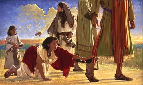 Resultado de imagen de tocar elmanto de jesus