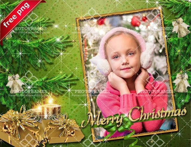 Marco digital para fotos con motivo navideño - Christmas frame