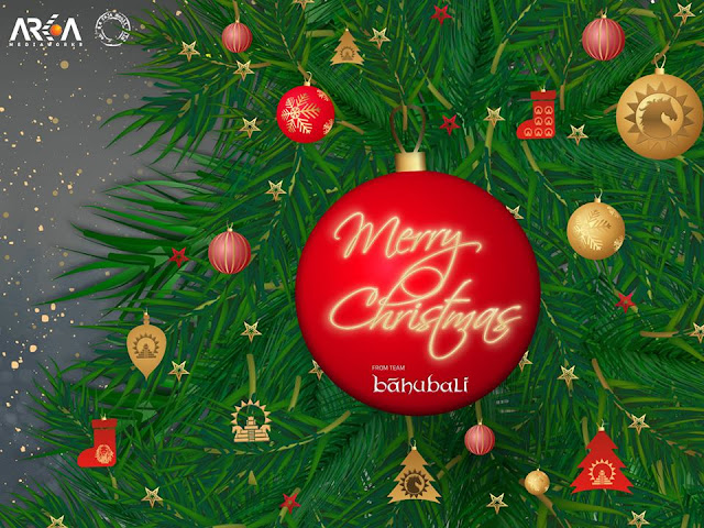 Baahubali team wishing all a merry christmas