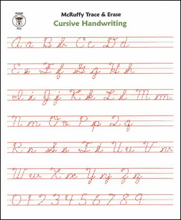 Lined Paper For Cursive Writing Practice