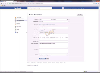 Creating Facebook Fan Page - Step 7