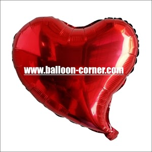 Balon Foil Hati Asimetris / Foil Love Asimetris