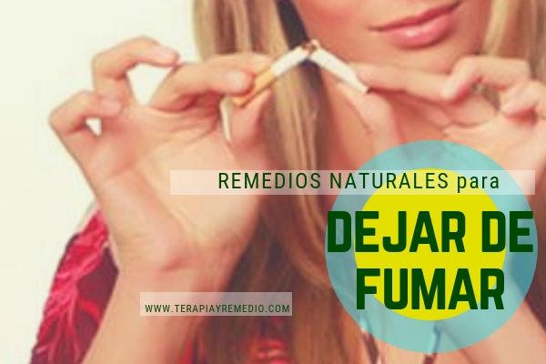 Remedios naturales para dejar de fumar. Alternativas para dejar el Tabaco