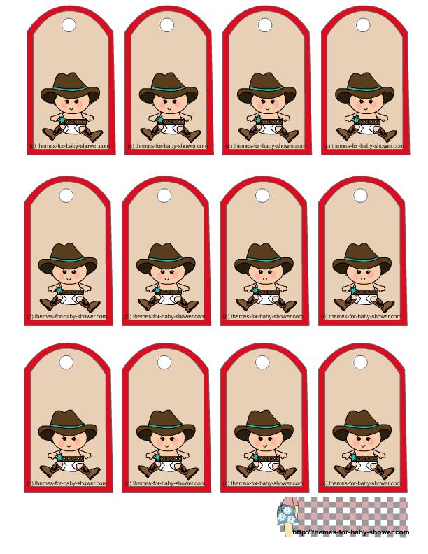 Arreglos Para Baby Shower Vaquero.Kit Vaquero En Rojo Para Baby Shower Para Imprimir Gratis