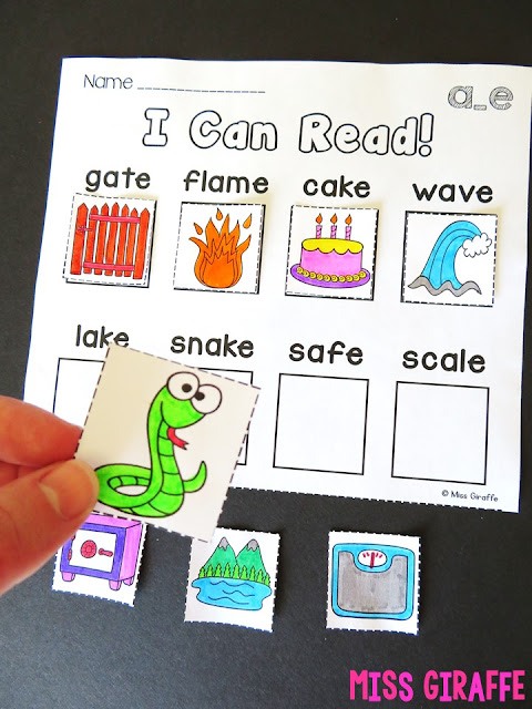 Long A CVCe worksheets and activities ideas for first grade - this post breaks down exactly how to teach first grade reading with so many examples!
