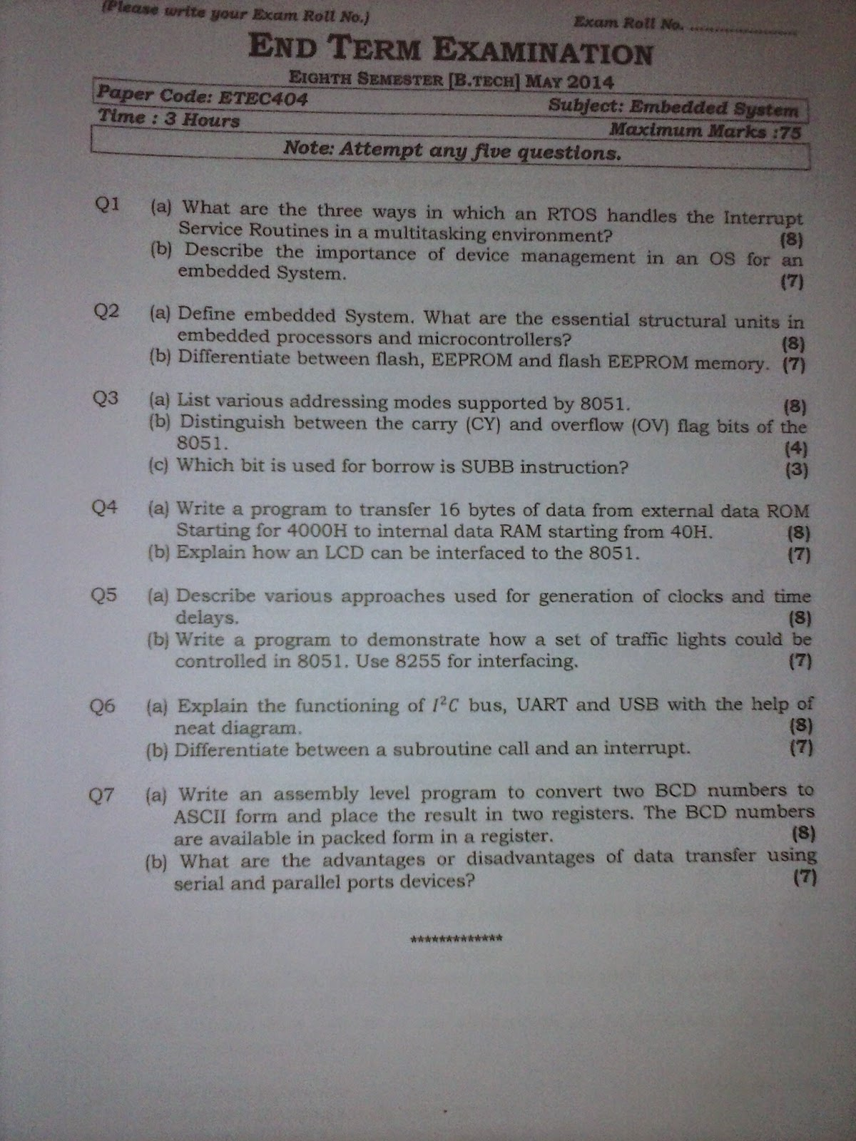 GGSIPU GUIDE: ECE - 8th Semester Syllabus / Previous Year Question Paper