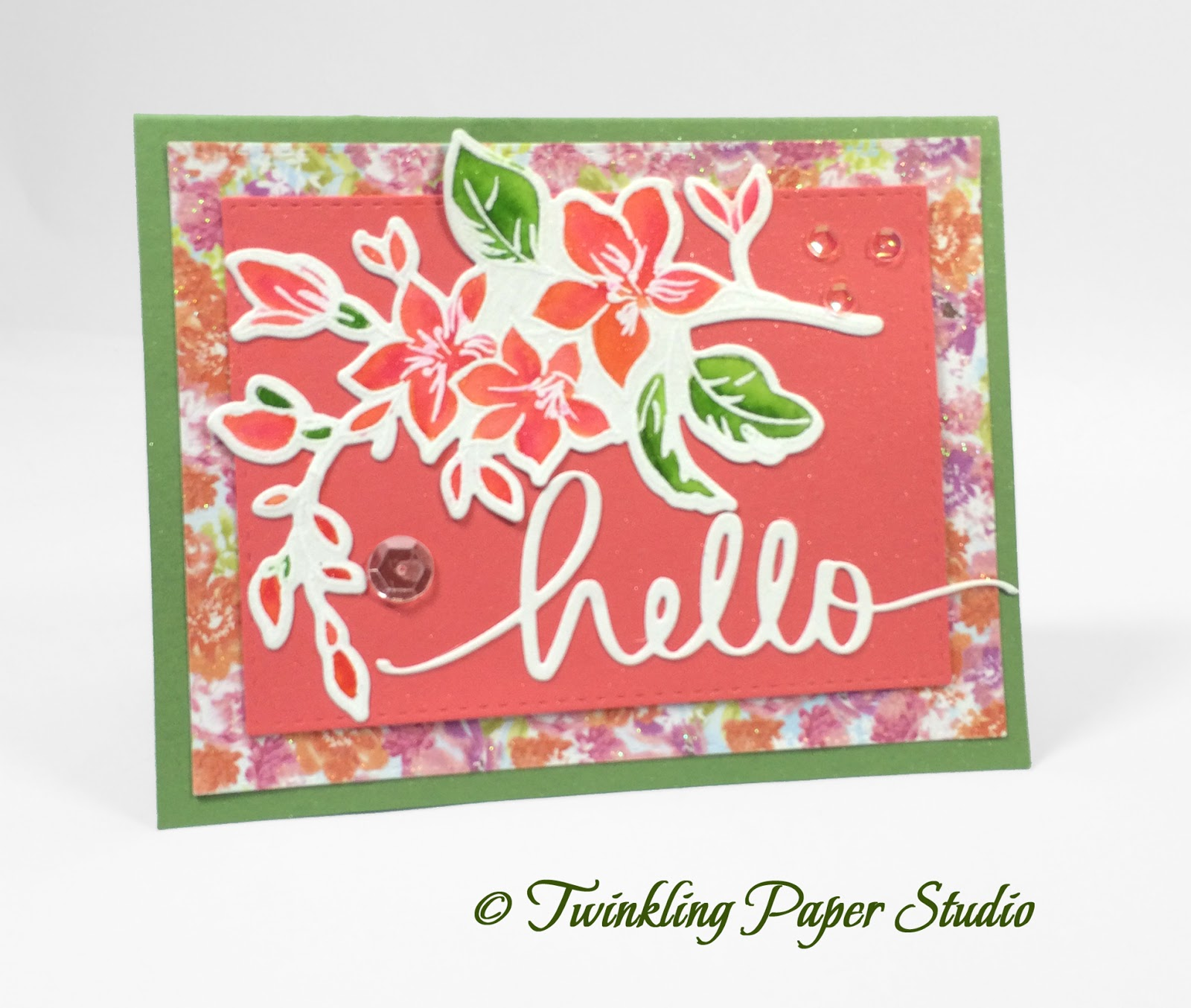 Cream colored cardstock paper studio - There S No Special Techniques Here Just Some Ordinary Coloring Of The Floral Branch With Some Cute Patterned Papers That Were Die Cut With Coordinating