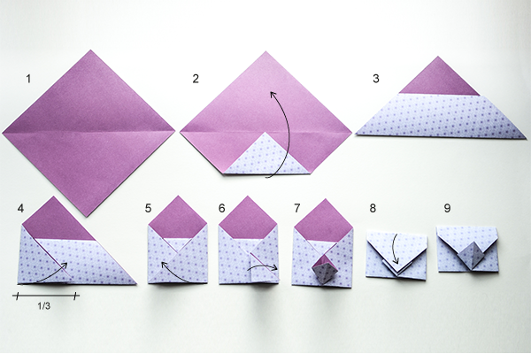 happy paper origami umschlag