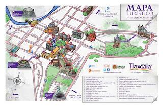 Mapa Turistico de tlaxcala