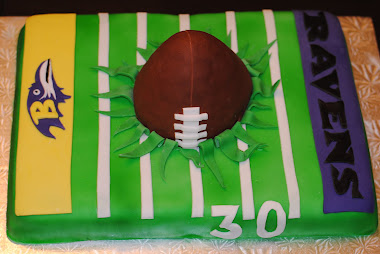 30th Bday Ravens Football Field Cake