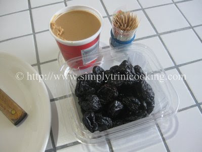 Prunes with Peanut Butter