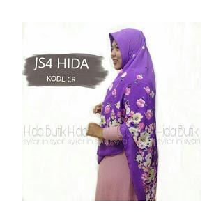 Jilbab Segi Empat Motif bunga