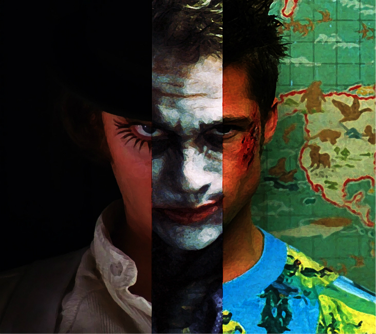 Grandes vilões do cinema: Alex DeLarge, Coringa e Tyler Durden