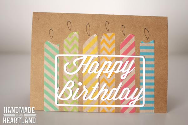 DIY Washi Tape Birthday Cards