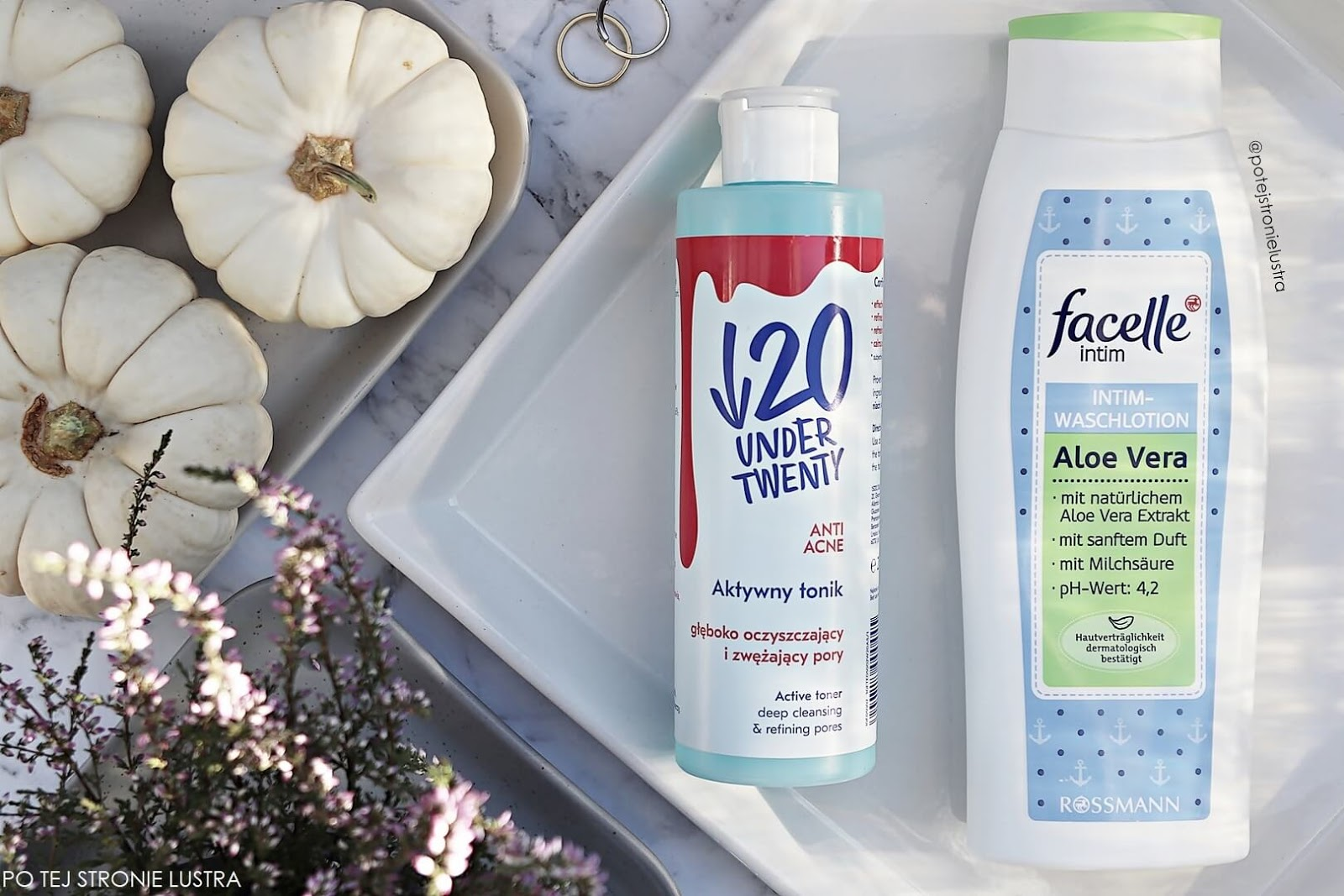 tonik under twenty anti acne, facelle aloe vera płyn do higieny intymnej