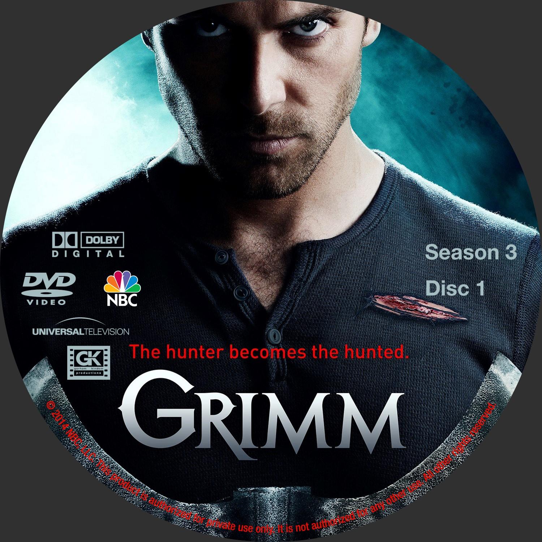 Label DVD Grimm Terceira Temporada D1 a D5