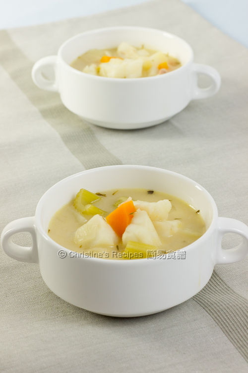 Creamy Fish Vegetable Soup01