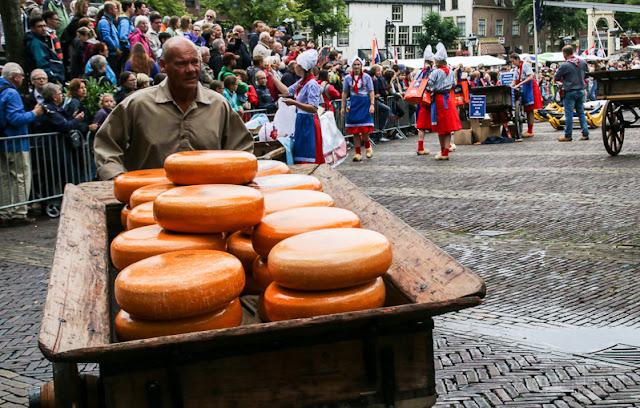 Karren voller Gouda in Alkmaar, Käsemarkt