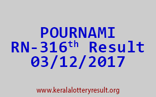 POURNAMI Lottery RN 316 Results 3-12-2017
