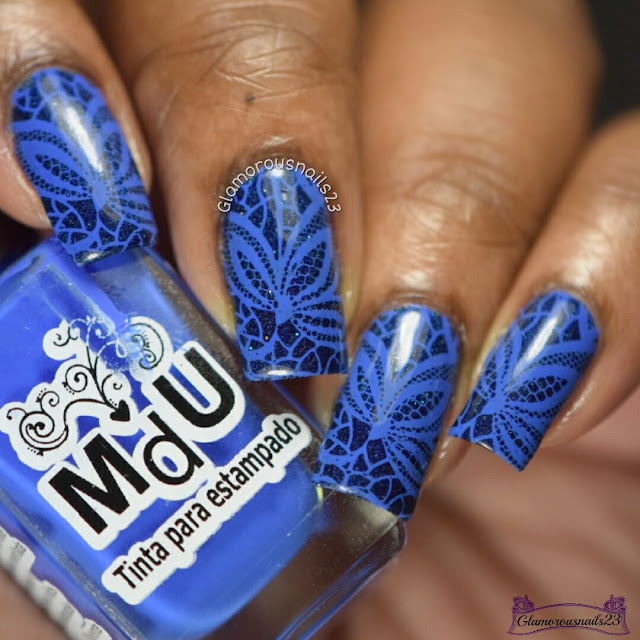 WNAC & Crumpets Nail Tarts February 2017 Day 17 Flowers/Blue Floral