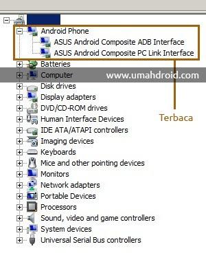 driver asus zenfone terdeteksi di PC/komputer/laptop