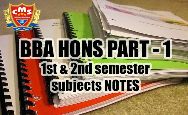 All Study notes of 1st Semester BBA(HONS) PART-I - Valiant