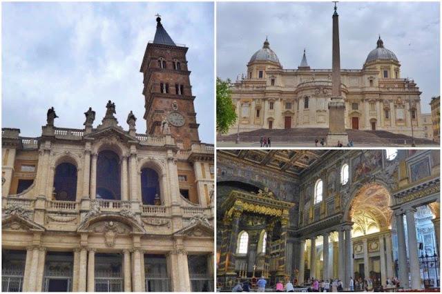 Interior y exterior de Santa Maria Maggiore en Roma