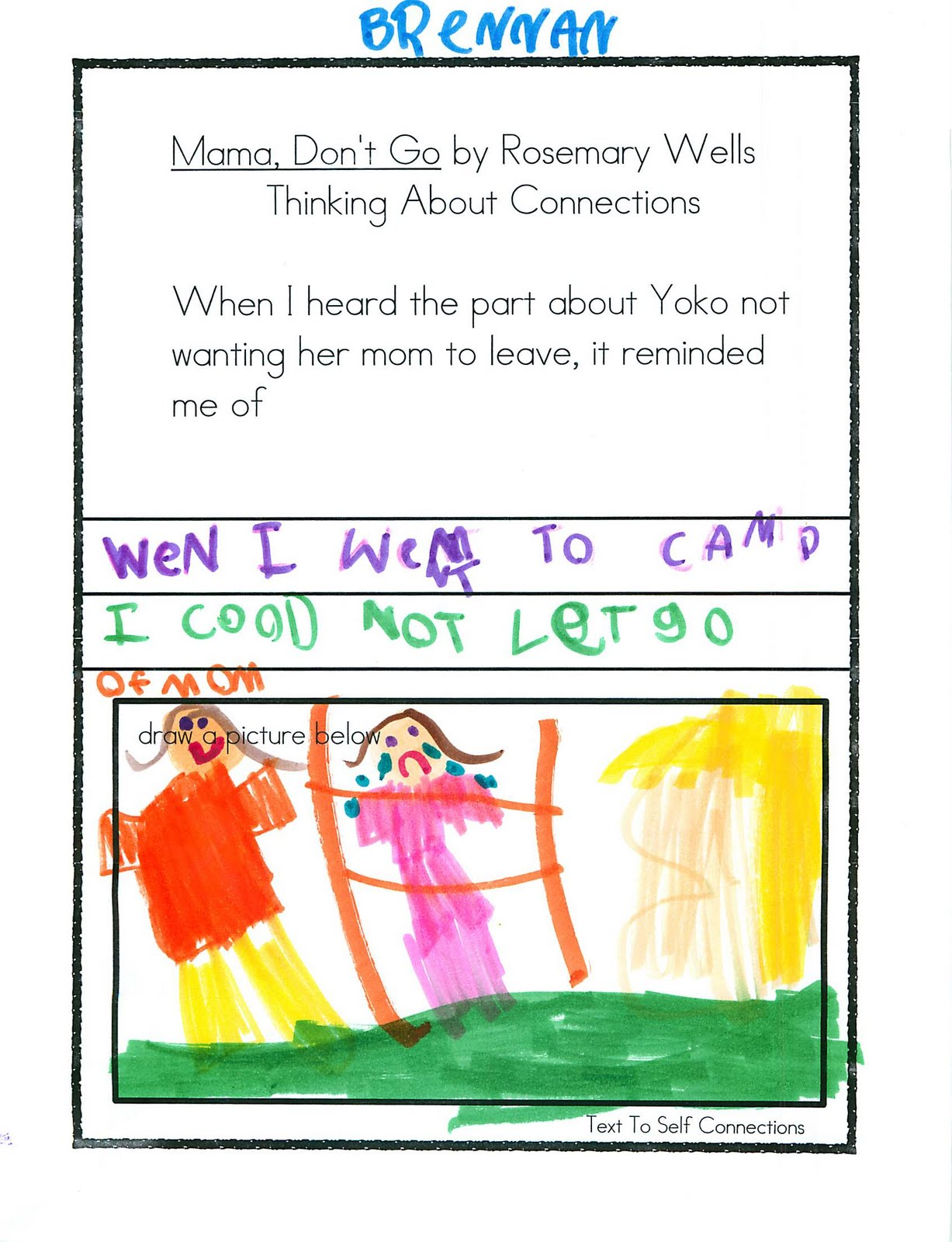 Kc Kindergarten Times Text To Self Connections