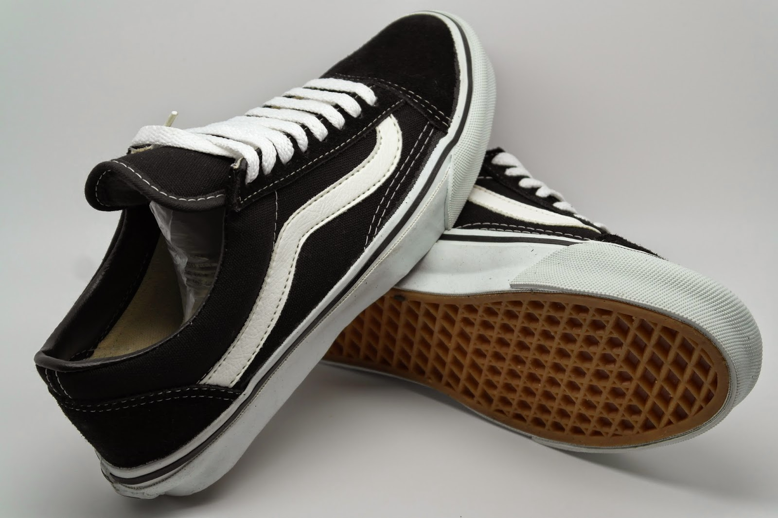 Vintage VANS Black OLD SKOOL Style 36 MADE IN USA 90s Skateboard Bmx Shoes DEADSTOCK US7 US12