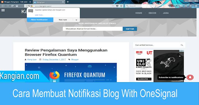 Cara Membuat Notifikasi Blog Dengan OneSignal