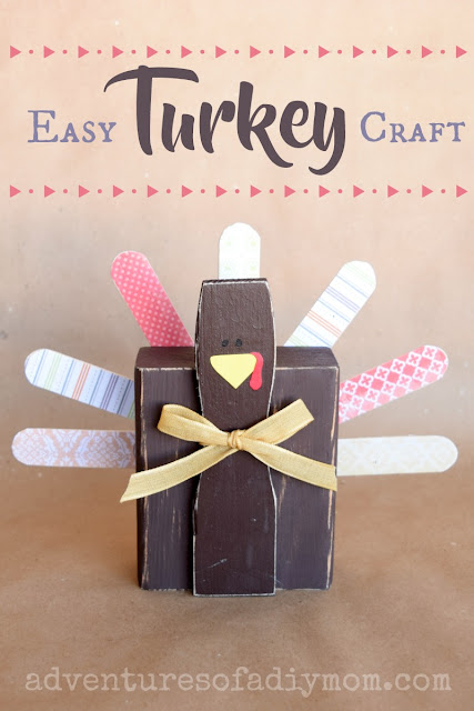 Easy DIY Turkey Craft for Thanksgiving Decor