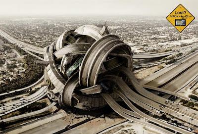 autopista y retoque digital