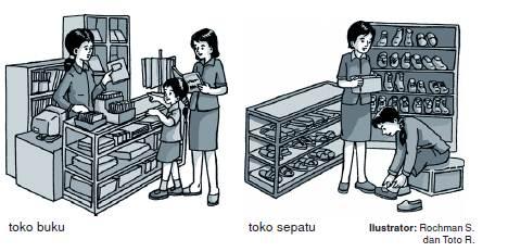 Kegiatan jual beli di lingkungan rumah dan sekolah