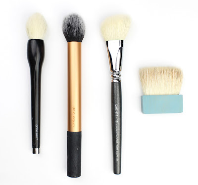 Contouring brush rae morris 2 mini kabuki brush, real techniques contour brush, designer makeup tools and benefit hoola
