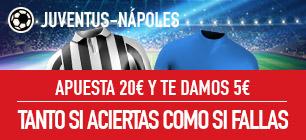 sportium Promo Juventus vs Nápoles 22 abril