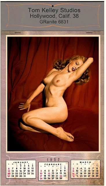 Nude images of Marilyn Monroe