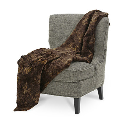 Bailey Faux Fur Throw by Michael Amin