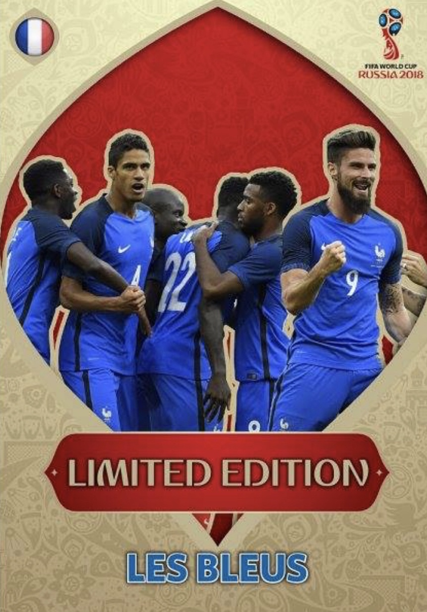 Coupe du monde 2018 XXL ADRENALYN XL Limited Edition cards