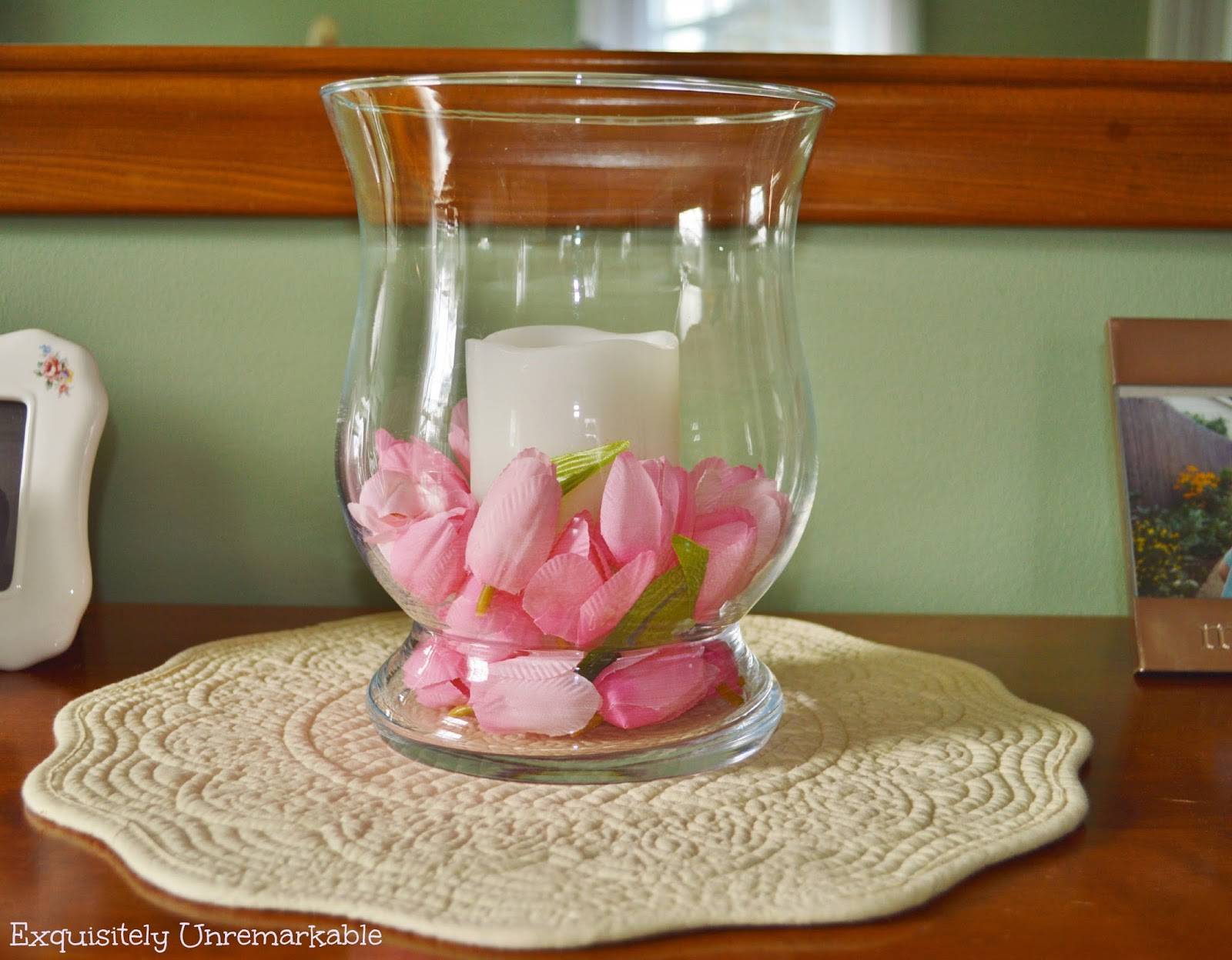 How To Make A Floral and Candle Centerpiece