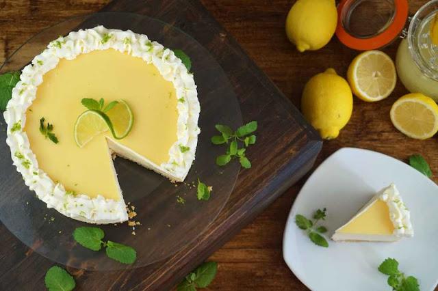 cheesecake de lima limon sin horno