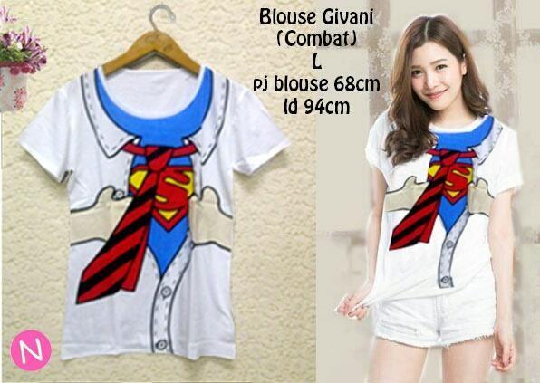 Jual Kaos Lengan Pendek Blouse Superman - 12760