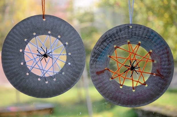 Spider Web Paper Plate Craft