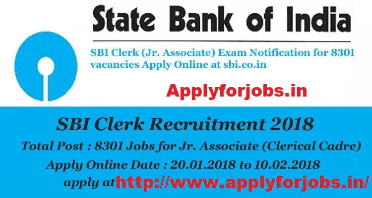 State Bank Of India Sbi Clerk Online Form 2018 Applyforjobs