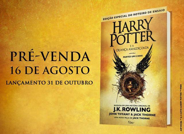 Novidades - Revelada a capa e as datas de pré-venda de Harry Potter e a Criança Amaldiçoada
