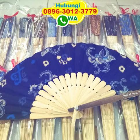 jual souvenir kipas motif batik harga grosir 50419