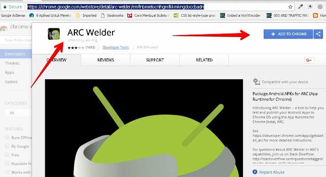 Install ARC Welder Google Chrome