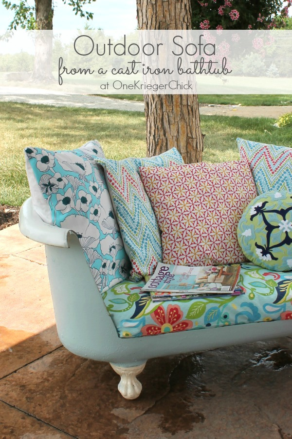 2+How to make an Outdoor Sofa from a cast iron bathtub Fun Home Decor Projects 40